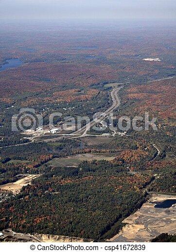 Muskoka Ontario, aerial - csp41672839