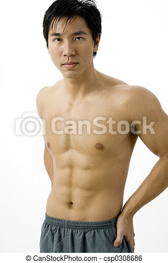 muskularny, człowiek - csp0308686