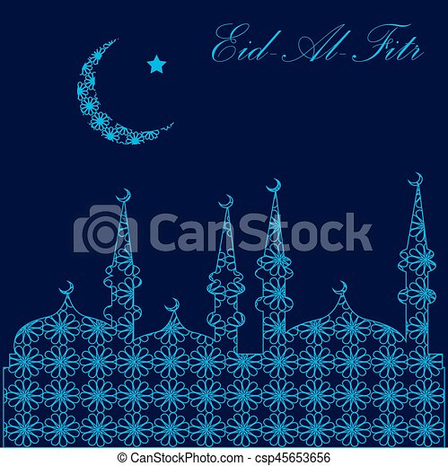 Must see Today Eid Al-Fitr Greeting - muslim-community-festival-eid-al-fitr-clipart-vector_csp45653656  Pictures_648331 .jpg