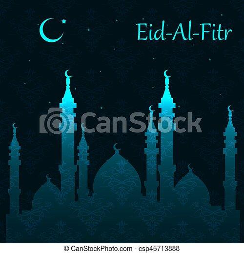 Muslim community festival eid al fitr eid mubarak greeting muslim community festival eid al fitr eid mubarak greeting background csp45713888 m4hsunfo