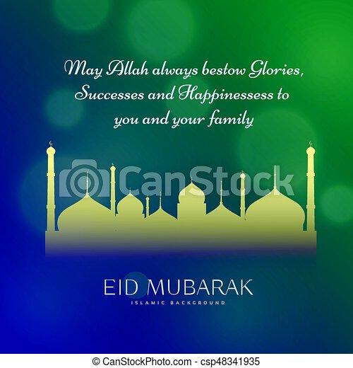 Muslim eid festival wishes greeting card design muslim eid festival wishes greeting card design csp48341935 m4hsunfo