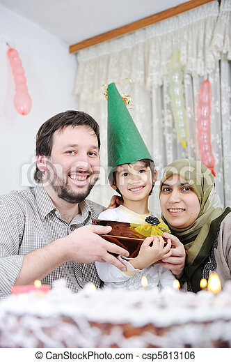 Muslim family birthday - csp5813106