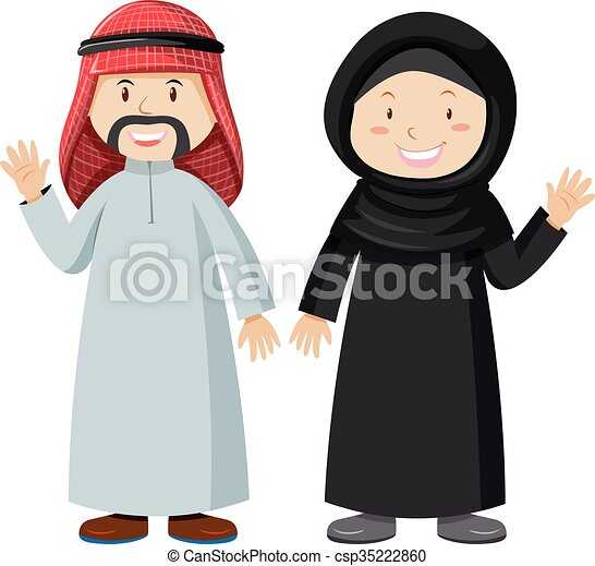 muslim man and woman together illustration rh canstockphoto com download clipart muslim muslim clipart vector