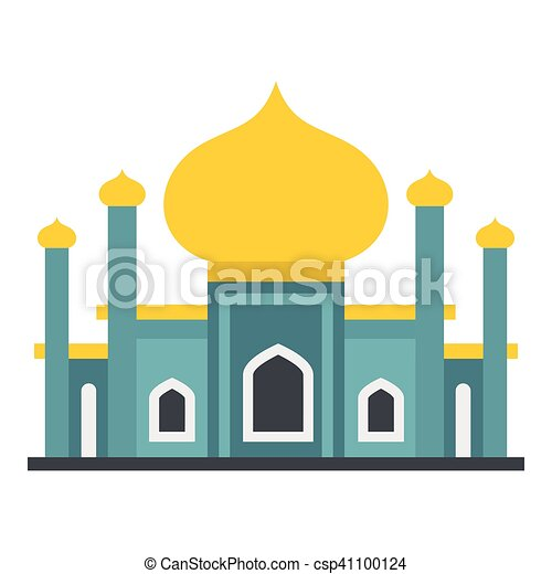 muslim mosque icon flat style muslim mosque icon flat vector rh canstockphoto ca mosque clipart vector free download mosquée png clipart