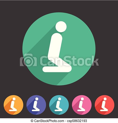 Muslim Prayer Room Area Icon Flat Web Sign Symbol Logo Label Set