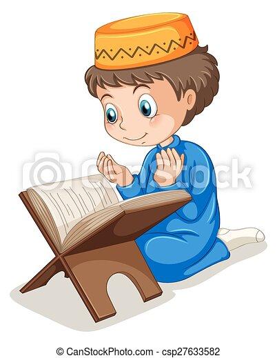 muslim praying close up muslim boy praying rh canstockphoto com muslim boy praying clipart little boy praying clipart