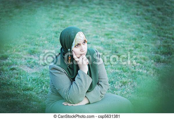 muslim woman - csp5631381