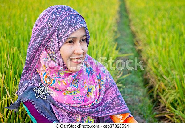 Muslim Woman Wearing Hijab - csp37328534