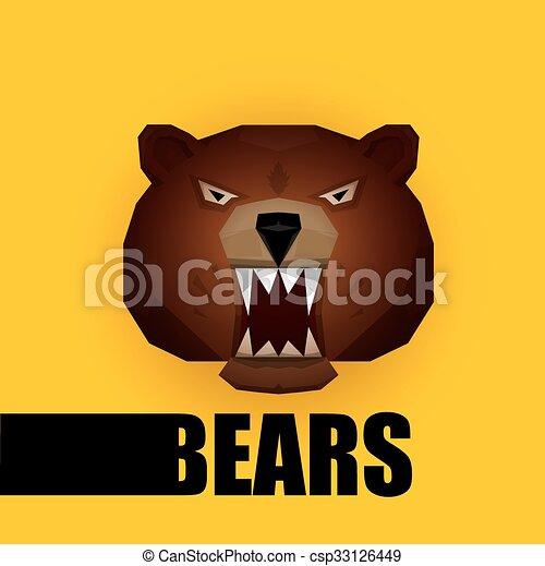 Muso orso vettore bear grizzle icon cartone animato muso