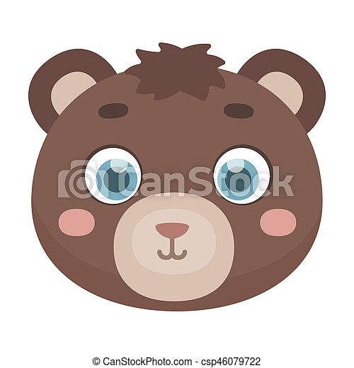 Muso stile illustration simbolo isolato orso bitmap fondo