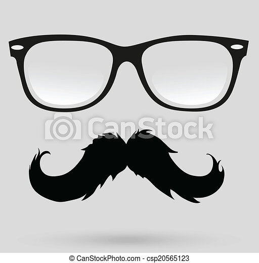 mustache, beard and hairstyle hipster - csp20565123