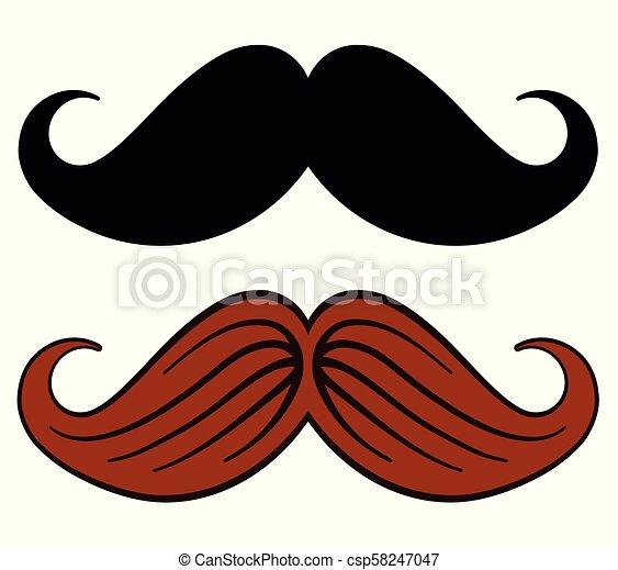 mustache design on white background - csp58247047