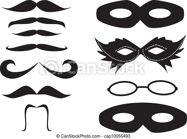 Mustaches and masks - csp10055493