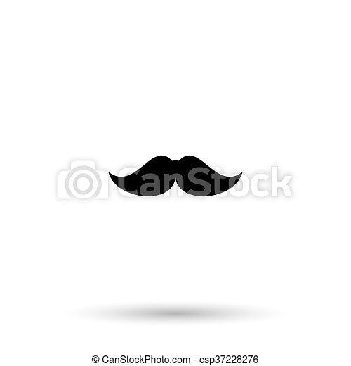 mustaches vector icon - csp37228276