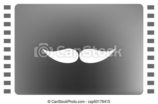 mustaches vector icon - csp50176415