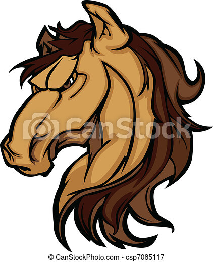 Mustang Stallion Graphic Mascot  - csp7085117
