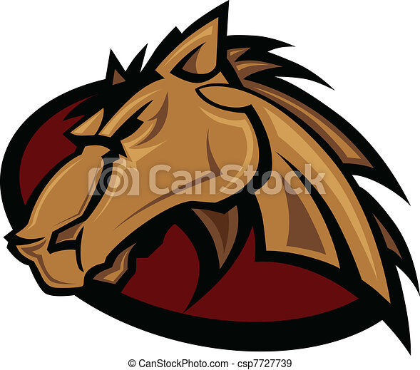 Mustang Stallion Graphic Mascot Vec - csp7727739