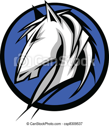 Mustang Stallion Graphic Mascot Vec - csp8309537