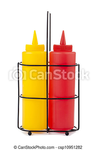 mustard and catsup bottle - csp10951282