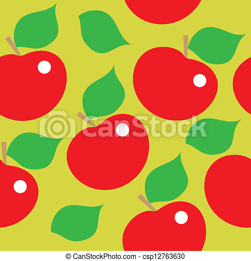 muster, äpfel, rotes , seamless - csp12763630