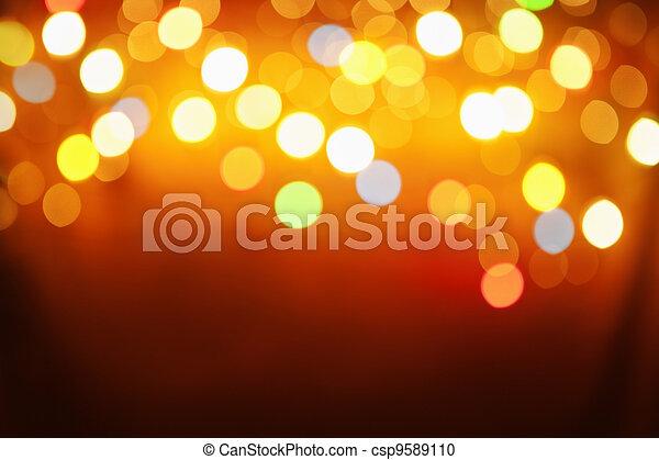 Abstraktes Muster von unscharfem Licht - csp9589110