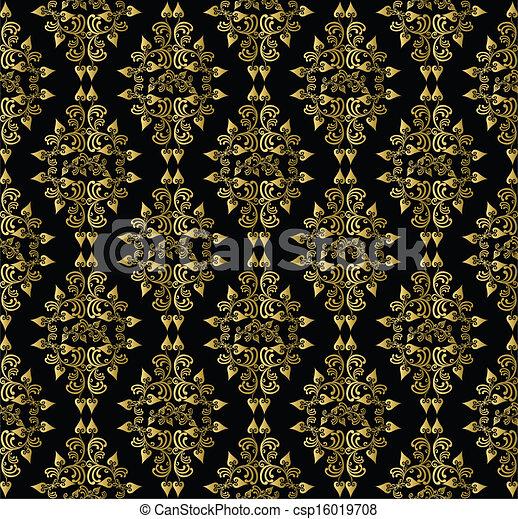 muster blatt hintergrund gold schwarz diamant gold vektor clipart suche illustration. Black Bedroom Furniture Sets. Home Design Ideas