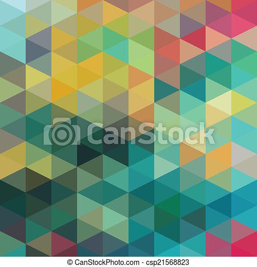 muster, dreiecke - csp21568823