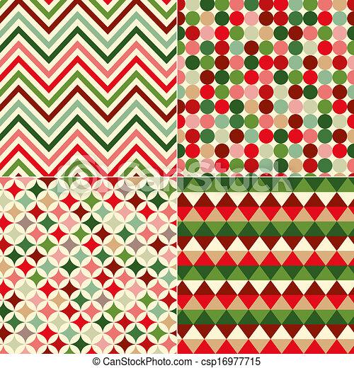 muster, farben, seamless, weihnachten - csp16977715