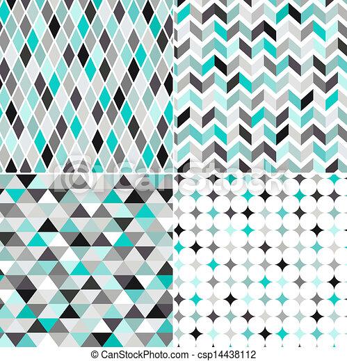 muster, geometrisch, seamless - csp14438112