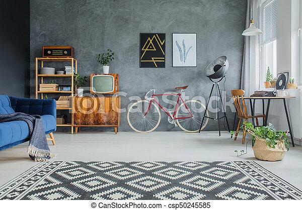 Muster Geometrisch Teppich Wohnzimmer Boden Muster Gesetzt