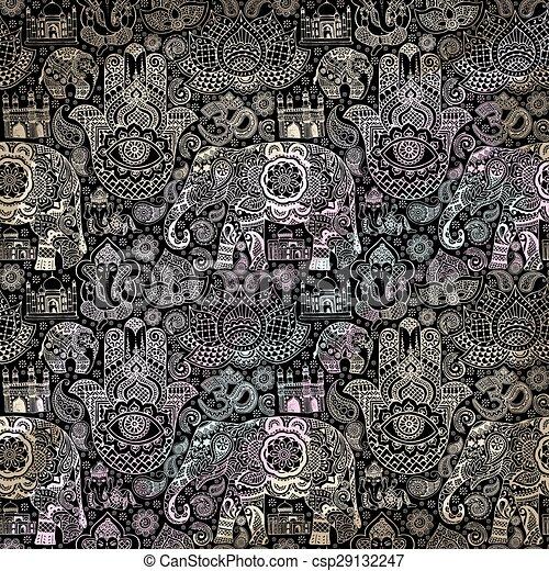 Muster Indische Miniaturen