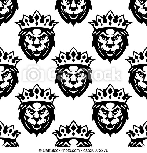 Das Muster eines königlichen Löwen - csp20072276