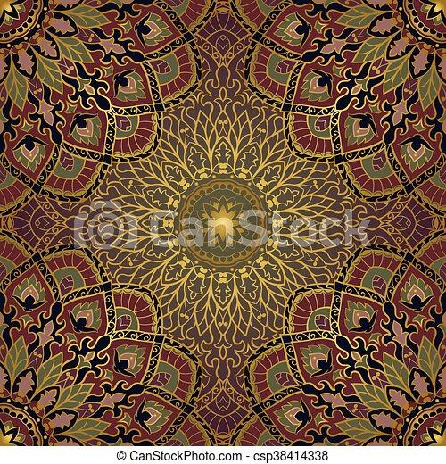 muster mandalas orientalische csp38414338 - Tapete Orientalisches Muster