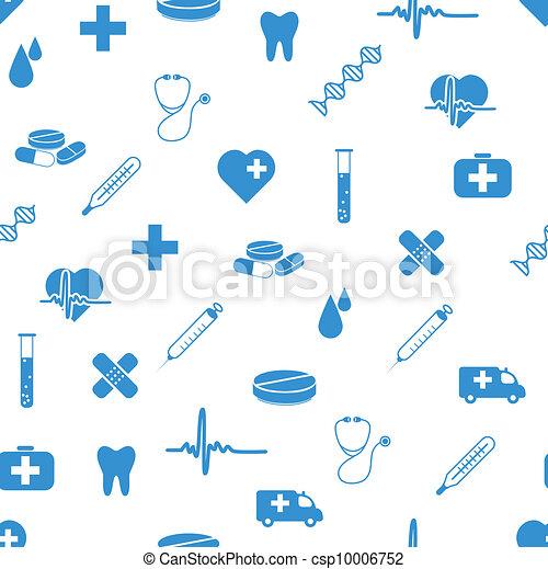 muster, medizin, seamless, heiligenbilder - csp10006752