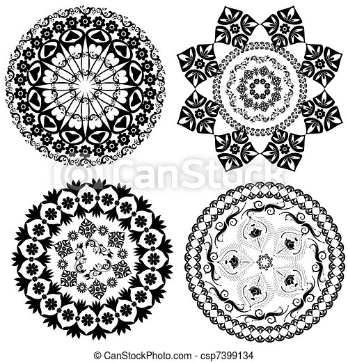 rundes orientalisches muster. | canstock