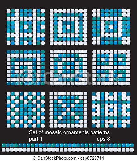 muster quadrat hintergruende mosaik hintergruende quadrat klassisch muster satz. Black Bedroom Furniture Sets. Home Design Ideas