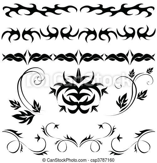 Leg das gotische Muster ein - csp3787160