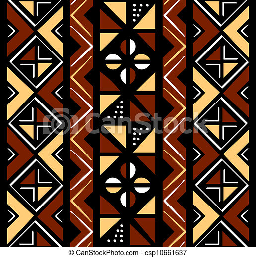 muster, seamless, afrikanisch - csp10661637
