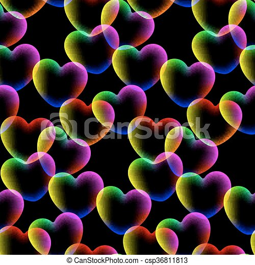 Dunkle Farben.Muster Seamless Dunkle Farben Hintergrund Herzen 10