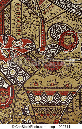 Muster, seide, orientalische , stoff. Stoffmuster,... Clipart ...