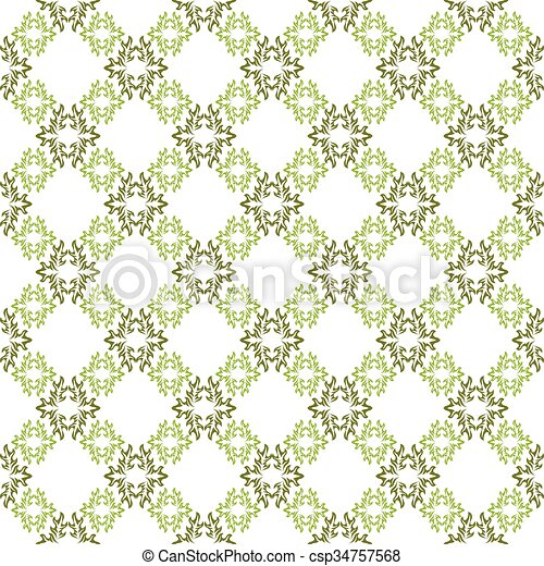 Muster Tapete Seamless Hintergrund Vektor Grün Weiß Muster