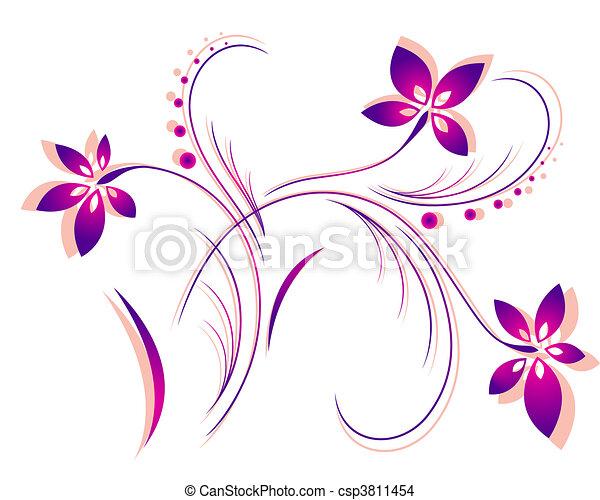 Blumenmustervektor - csp3811454