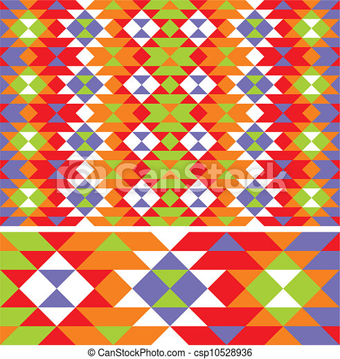 Ethno Muster muster, vektor, mexikanisch, ethno. muster, vektor, mexikanisch