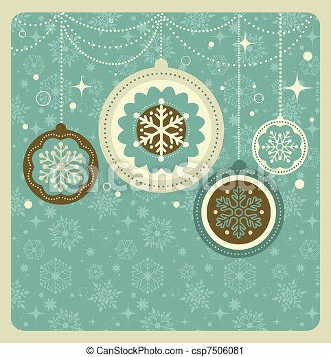 Weihnachtshintergrund mit Retromuster - csp7506081
