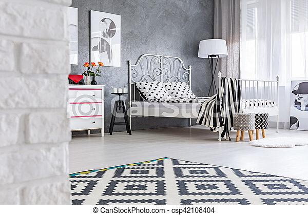 Muster Zimmer Grau Teppich Teppich Zimmer Wand Muster Grau