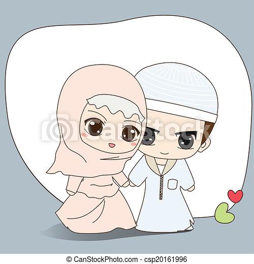 musulman, robe, mariage , csp20161996