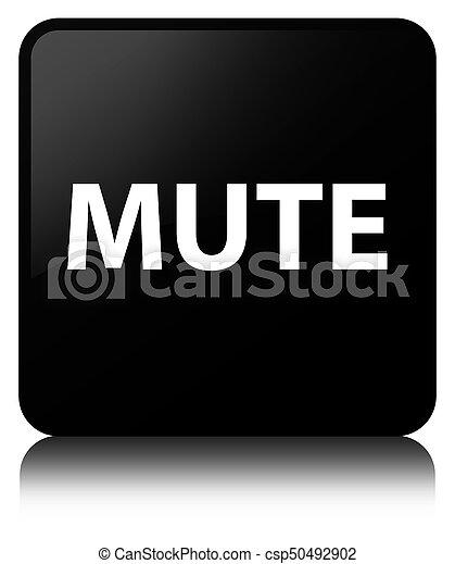 Mute black square button - csp50492902