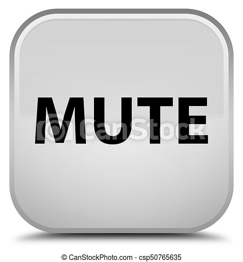Mute special white square button - csp50765635