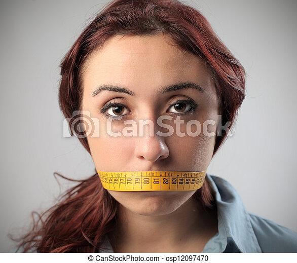 mute woman - csp12097470