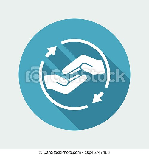Mutual assistance - Vector minimal icon - csp45747468